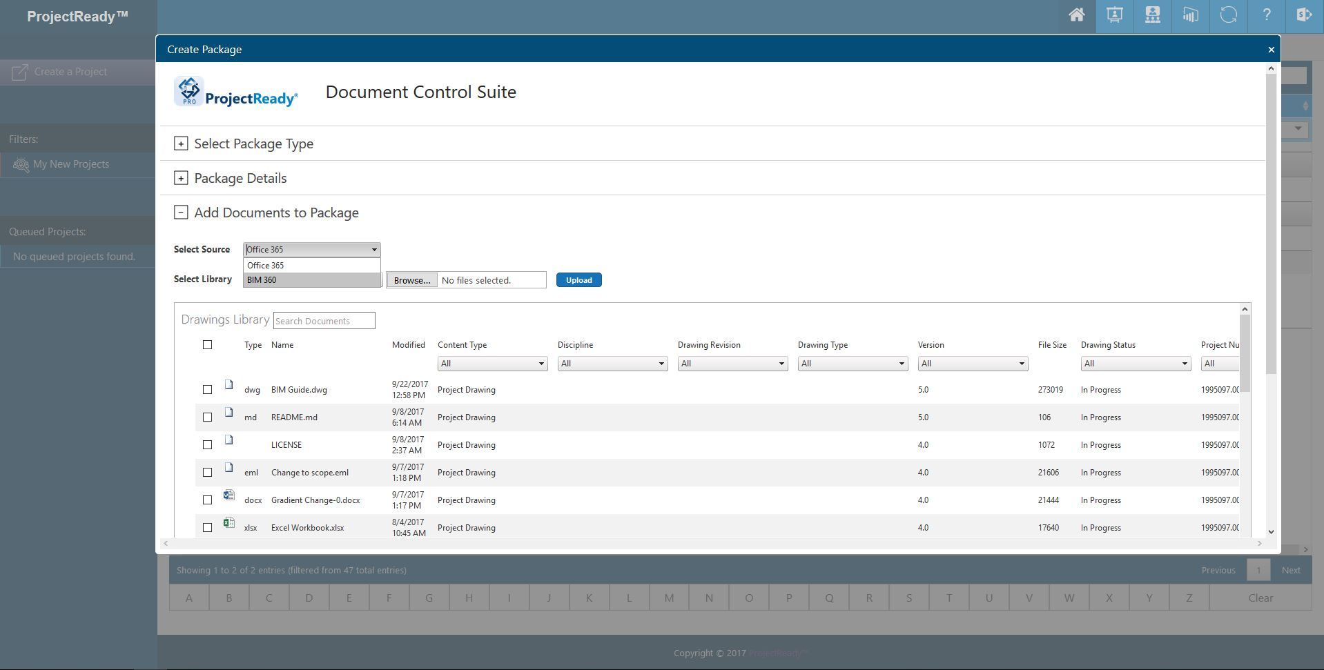 ProjectReady-Central-Screenshot-BIM 360 Source
