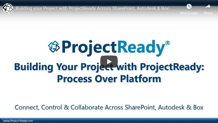 Building your Project with ProjectReady - Process over Platform