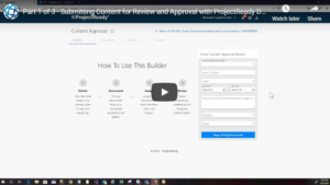 Submit Content for Approval - Part 1