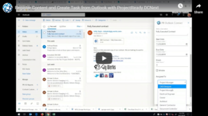 Register Content and Create Tasks From Outlook