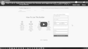 Submit Content for Approval - Part 1 - BW